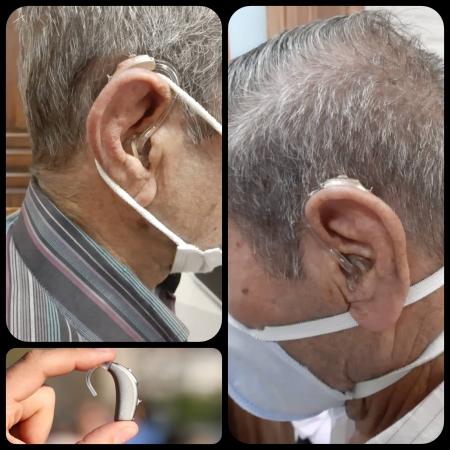 تجویز سمعک +Vitus فوناک (مدل پشت گوشی) برای مراجع 70 ساله مبتلا به کم شنوایی شدید تا عمیق دوطرفه